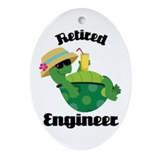 Retired Engineer Gift Ornament (Oval)