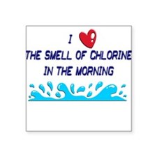 "chlorine in the morning.png Square Sticker 3"" x 3"""