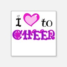 """I Love to Cheer.png Square Sticker 3"""" x 3"""""""