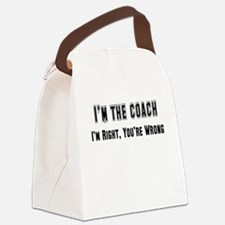 coach right,wrong.png Canvas Lunch Bag