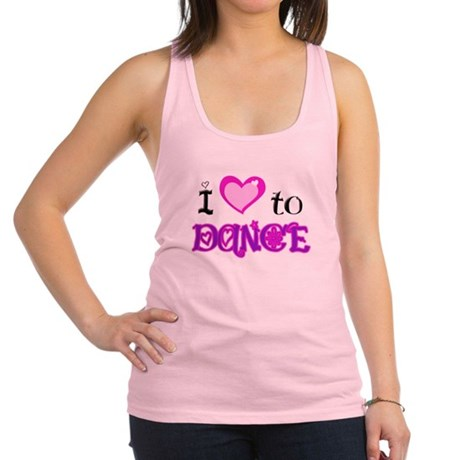I Love to Dance.png Racerback Tank Top