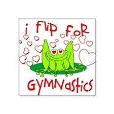 "gymnastics frog.png Square Sticker 3"" x 3"""