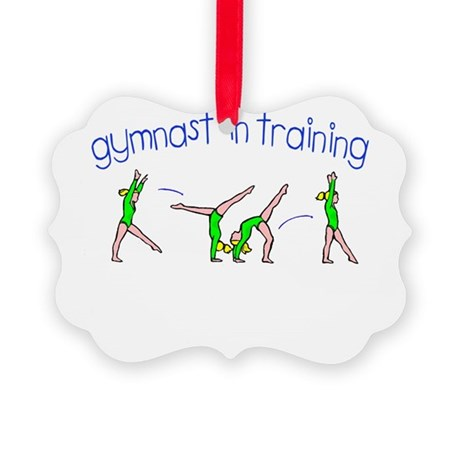 gymnast in training.png Picture Ornament