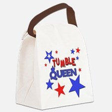 red blue stars tumble queen.png Canvas Lunch Bag