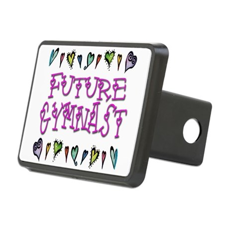 gymnast future hearts.png Rectangular Hitch Cover