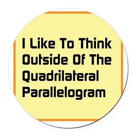 Quadrilateral Parallelogram Round Car Magnet