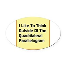 Quadrilateral Parallelogram Oval Car Magnet