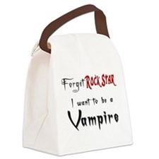 want to be a vampire rockstar.png Canvas Lunch Bag