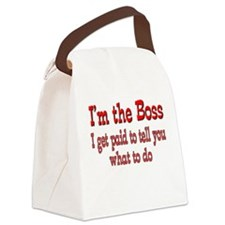 I get paid boss.png Canvas Lunch Bag