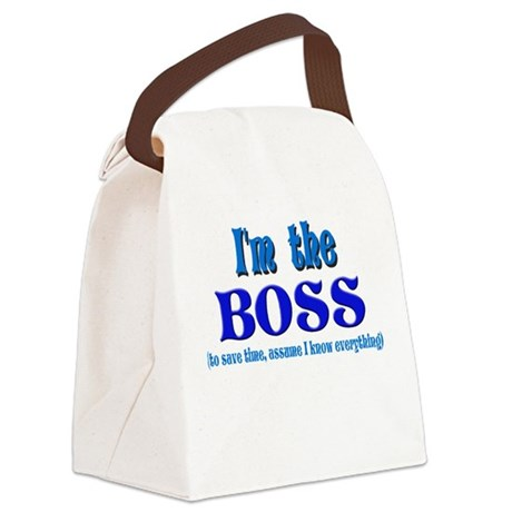 Im the boss.png Canvas Lunch Bag
