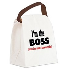 Im the boss1.png Canvas Lunch Bag