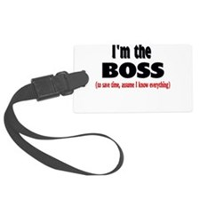 Im the boss1.png Luggage Tag