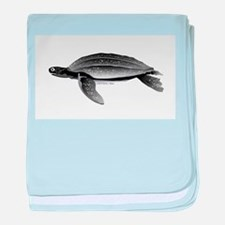 Leatherback Sea Turtle baby blanket