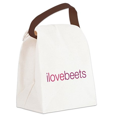 i love beets Canvas Lunch Bag