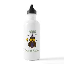 Free Broom Rides Water Bottle