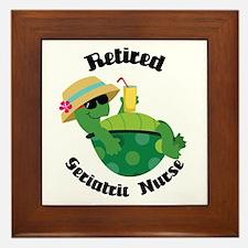 Retired Geriatric Nurse Gift Framed Tile