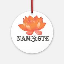 Namaste lotus Ornament (Round)