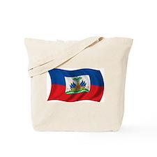 Wavy Haiti Flag Tote Bag