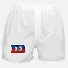 Wavy Haiti Flag Boxer Shorts