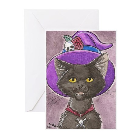 Gothic Witch Cat Greeting Cards (Pk of 10)