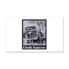 Clyde Barrow Car Magnet 20 x 12