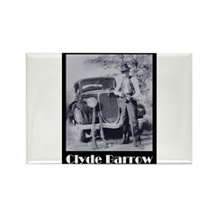 Clyde Barrow Rectangle Magnet (100 pack)