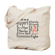 Uterine Cancer Words Tote Bag
