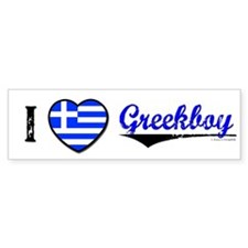 I &hearts Greekboy Bumper Bumper Sticker