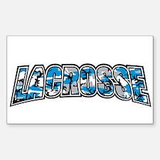 Lacrosse Blue Camo Decal