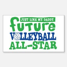 Future All Star Volleyball Boy Sticker (Rectangle)