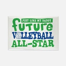 Future All Star Volleyball Boy Rectangle Magnet