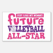 Future All Star Volleyball Girl Decal