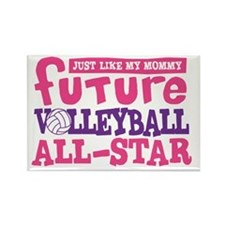 Future All Star Volleyball Girl Rectangle Magnet
