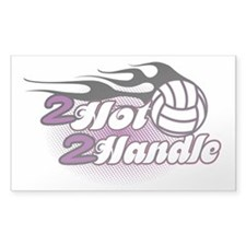 Volleyball 2 Hot 2 Handle Decal