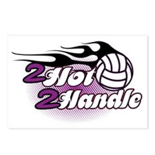 Volleyball 2 Hot 2 Handle Postcards (Package of 8)
