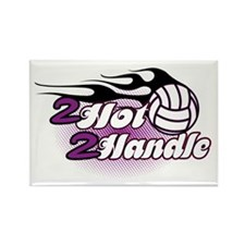 Volleyball 2 Hot 2 Handle Rectangle Magnet