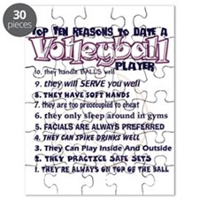 Volleyball Top Ten Reasons To Date Puzzle
