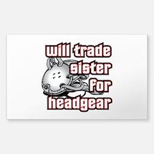 Wrestling Trade Sister For Headgear Decal