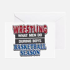Wrestling What Men Do Greeting Cards (Pk of 10)