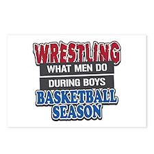 Wrestling What Men Do Postcards (Package of 8)