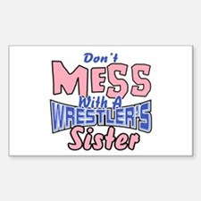 Wrestler's Sister Sticker (Rectangle)