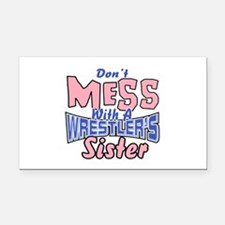 Wrestler's Sister Rectangle Car Magnet