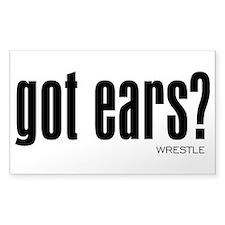 Wrestling Got Ears Decal