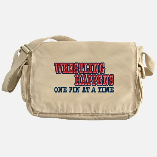 Wrestling Happens Messenger Bag