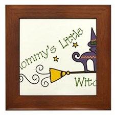 Mommys Little Witch Framed Tile