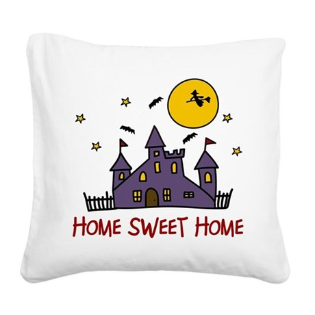 Home Sweet Home Square Canvas Pillow