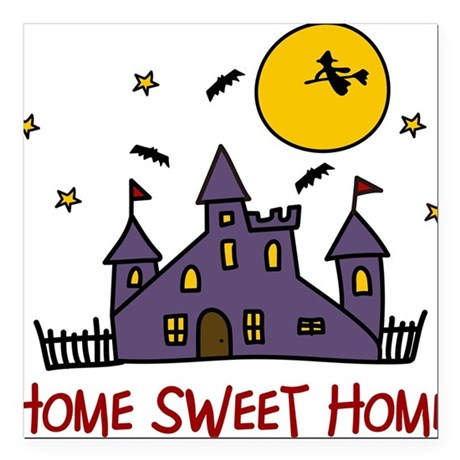 "Home Sweet Home Square Car Magnet 3"" x 3"""