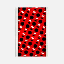 Red Black Wild Child Designer Rectangle Magnet