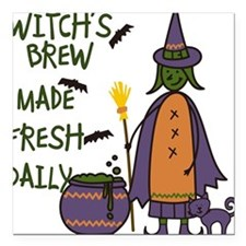 """Witchs Brew Square Car Magnet 3"""" x 3"""""""