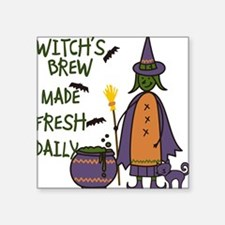"Witchs Brew Square Sticker 3"" x 3"""